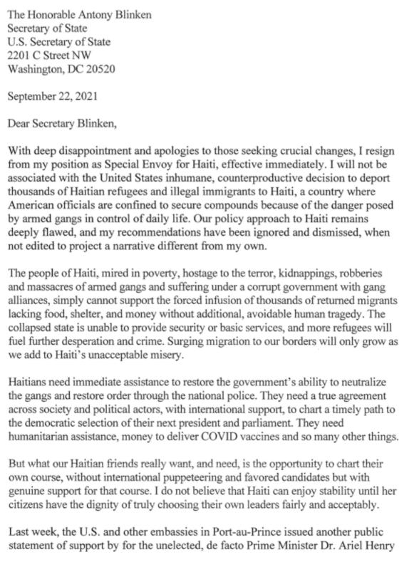 美国海地问题特使宣布辞职 称美对海地政策存在严重缺陷插图