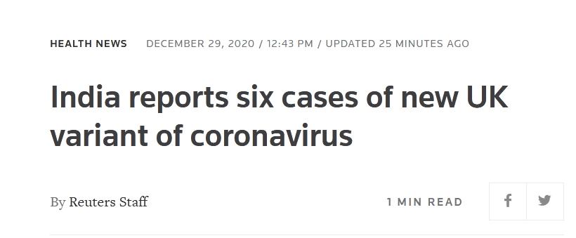 usdt自动充值(caibao.it):外媒:印度讲述6例熏染变异新冠病毒确诊病例,患者近期从英国入境 第1张