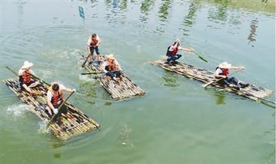 端午民俗活动:赛竹筏