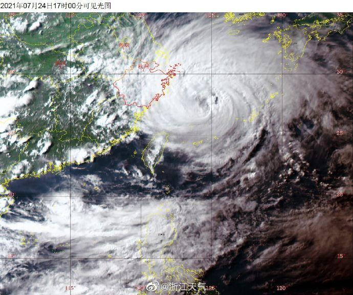 """高德招商主管浙江省气象服务中心:台风""""烟花""""本体已上岸"""