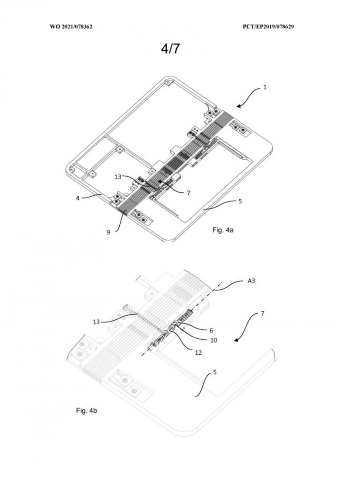 进程优化_华为新专利:为可折叠手机提供类Surface Book的增强型铰链插图3