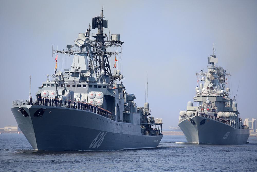 俄罗斯海军节阅兵将至 海军举行阅兵彩排插图(3)