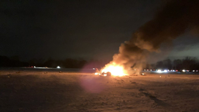 Sudden! A US military helicopter crashed, three people died and a fire broke out at the scene