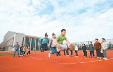 江苏淮安:学生们的快乐体育课
