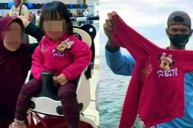 印尼飞机失事的令人心碎的一幕:女孩在登机前与母亲合影, 她在海里发现的那件夹克