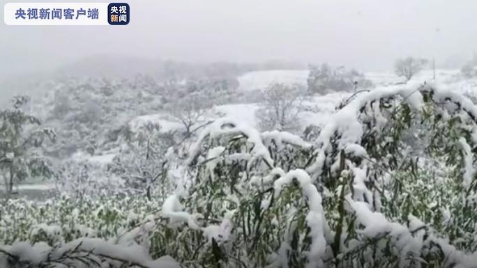 【全国多地迎入秋后首场降雪】陕西多地下雪 居民提前穿棉衣 最低温将逼近0℃