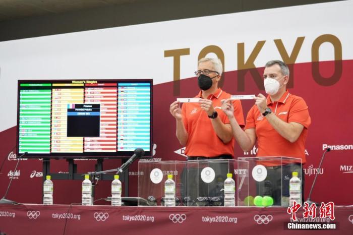 東京奧運乒乓球項目抽籤結果揭曉 國乒混雙上籤