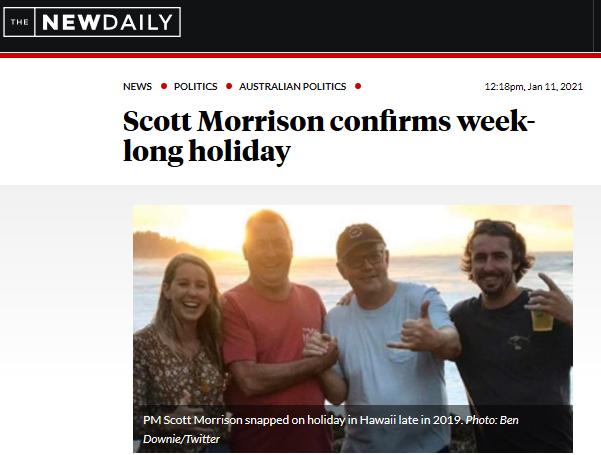 莫里森再次度假