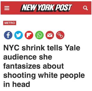 """肇庆法治网纽约精神病学家发表极具争议言论:自己""""幻想朝白人脑袋开枪"""",网友吓坏:老天!"""