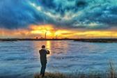 内蒙古牙克石冰河日落
