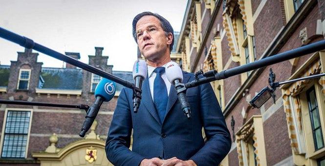 """荷兰首相谴责反宵禁暴力示威:一律按""""暴力犯罪""""处置"""
