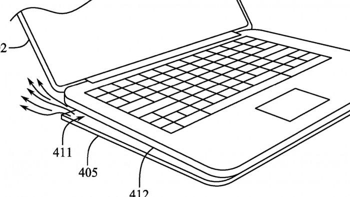 专利申请显示MacBook Pro未来可能采用新的通风底盘插图