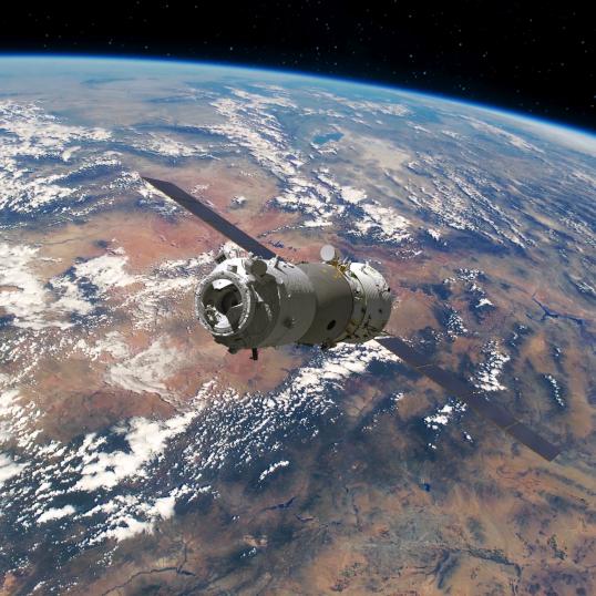 神舟十二号模拟图 来源/航天科技集团五院