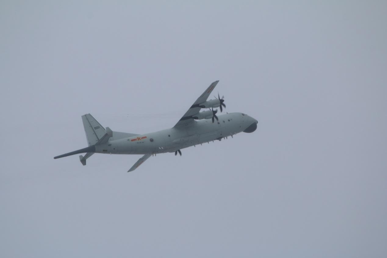 运-8反潜机(同型机)照片。图自台湾防务部门官网