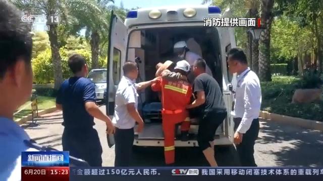 海南儋州一施工现场发生塌方 两人被埋 消防紧急营救