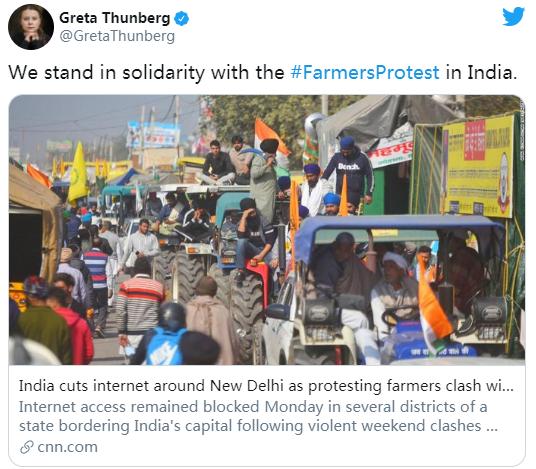 《【杏鑫手机版登录地址】蕾哈娜发推支持印度农民抗议,惹恼印度外交部!》
