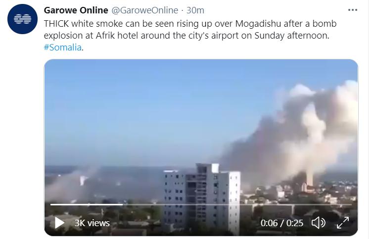 An explosion in Mogadishu, the capital of Somalia, has caused many casualties