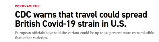 usdt充值接口(caibao.it):美国疾控中心首次示意:旅行者可能将变异新冠病毒从英国带到美国 第1张