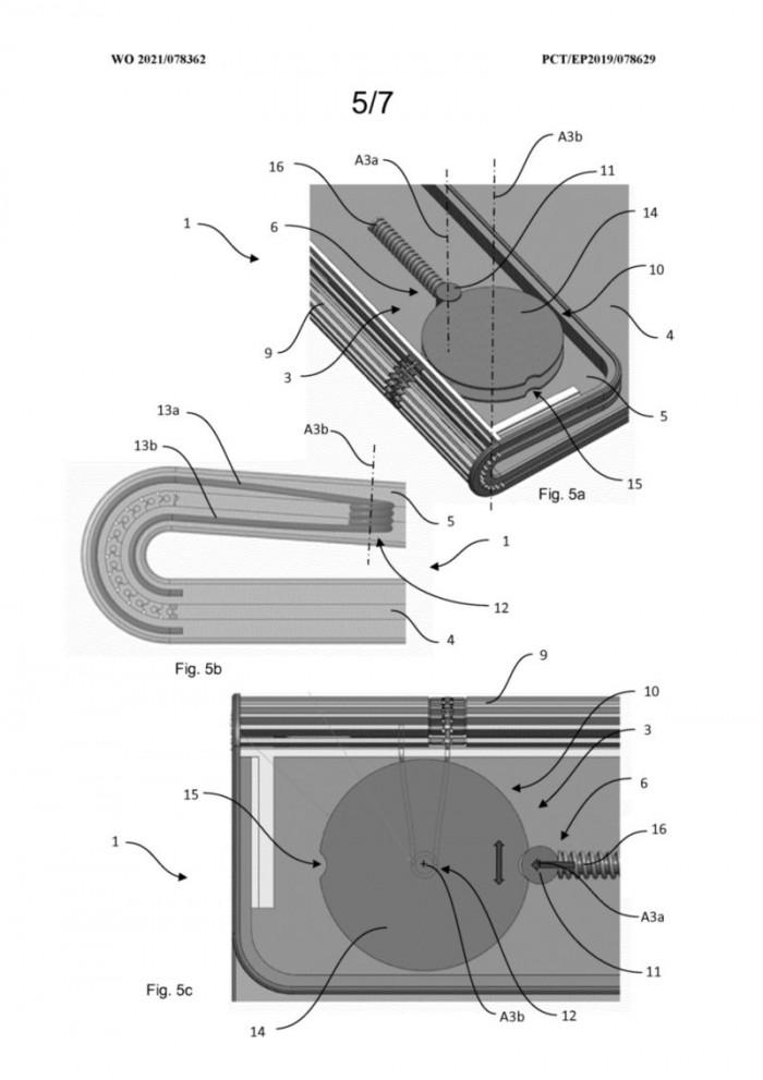 进程优化_华为新专利:为可折叠手机提供类Surface Book的增强型铰链插图4