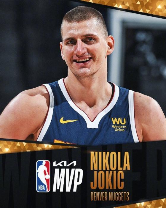 NBA:约基奇当选常规赛MVP 成选秀顺位最低MVP