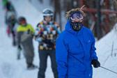 莫斯科滑雪胜地聚集大量滑雪爱好者