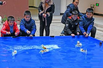 安徽举行航模比赛 148名中小学生现场竞技
