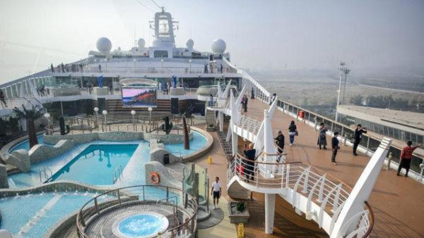 地中海辉煌号邮轮开启天津首航