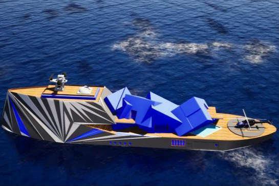 北极超级游艇外形似冰山配备天文台▲和游泳池