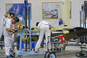 安徽蕪湖航空產業園展示自主化航空產業鏈