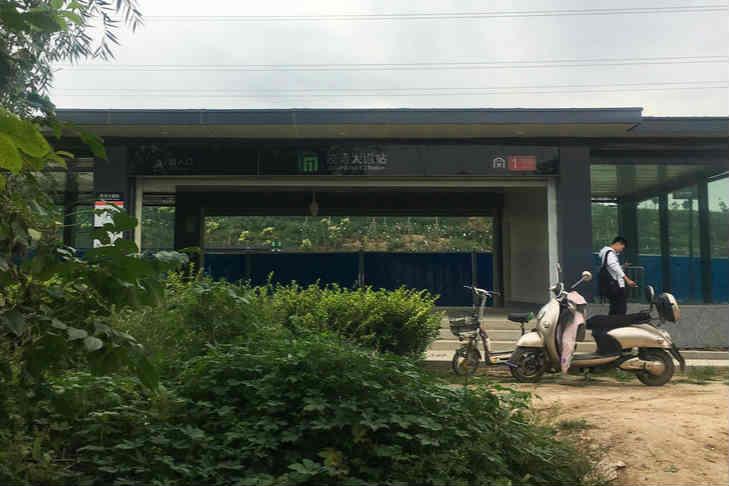 """石家庄网红""""最荒凉地铁站"""":站口现草丛小路"""