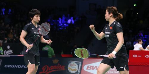 丹麦羽毛球公开赛女双:陈清晨/贾一凡2-0胜利