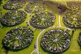 """无人机俯瞰丹麦环形""""花园城市""""宛如世外桃源"""