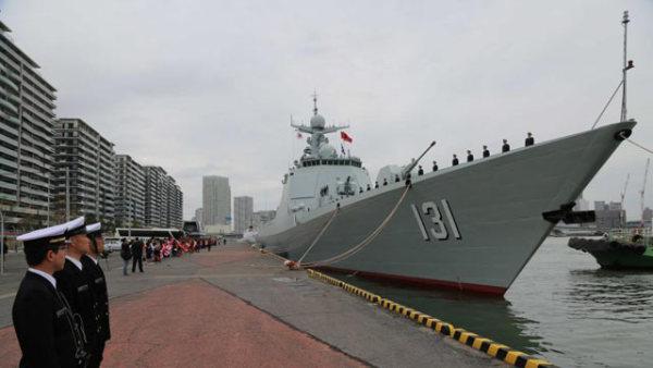 华夏太原舰与日海上自卫队开展并训练