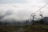 俄罗斯滑雪胜地--云雾缭绕的谢列格什小镇
