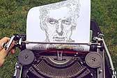 厉害了!英国23岁建筑系学生用老式打字机作画