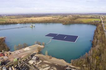 """德国公司""""坑""""里建漂浮太阳能发电站"""