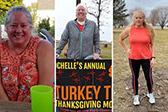 陪孙辈们玩耍女子靠跑步9个月减82斤
