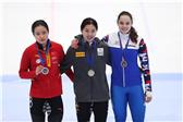 韩雨桐女子1000米第二次比赛A组决赛摘银