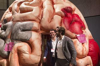 """荷兰举办健康创新大会充气""""大脑""""形态逼真"""