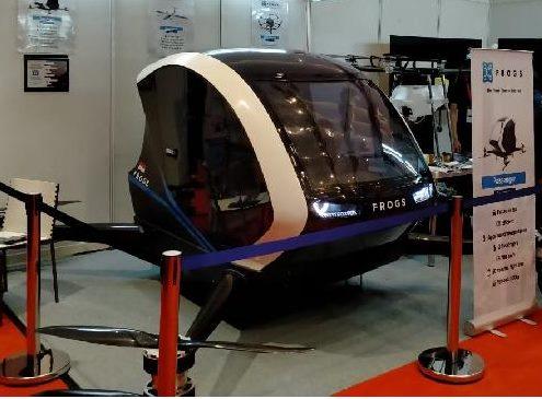 印尼造飞行出租车 外观像无人机底盘加机舱