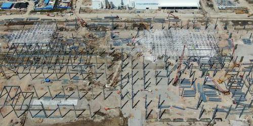 特斯拉上海超级工厂二期建设已初具规模