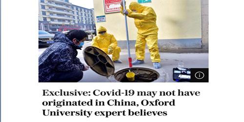 牛津大学专家:新冠病毒并非源自中国或在世界各地处于休眠状态