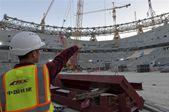 中国承建卡塔尔世界杯主体育场主钢结构合龙