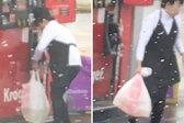 神操作!美加油站一女子用塑料袋装汽油放后备箱