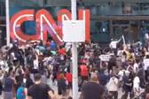 示威者打砸CNN总部