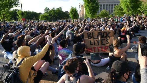 美国首都华盛顿反种族歧视抗议活动继续