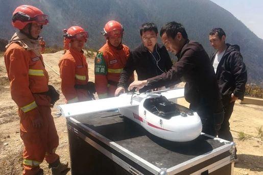 四川测绘无人机24小时无间断监测火情