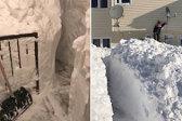 出门太难!加女子花4小时从一米高雪墙中挖路