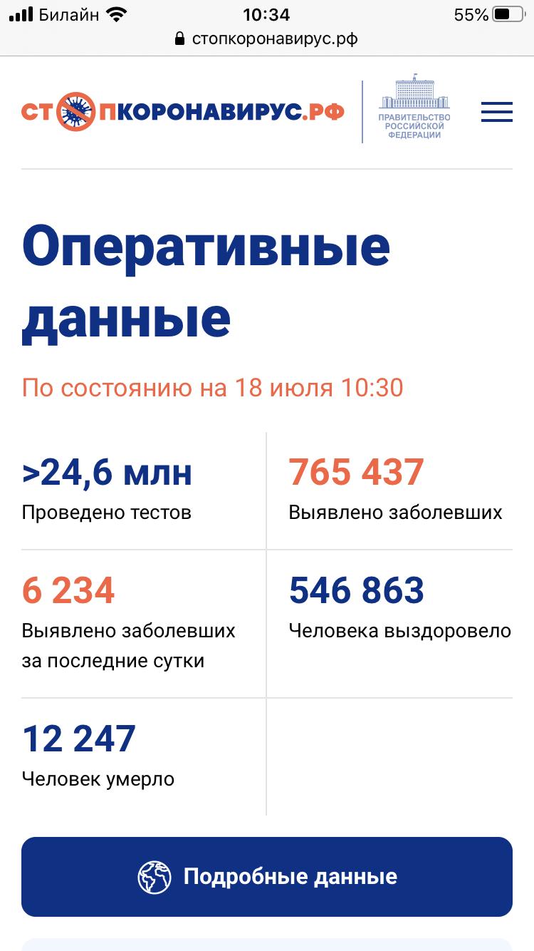 大发888娱乐下载:俄罗斯新增6234例新冠肺炎确诊病例 累计确诊765437例 第1张