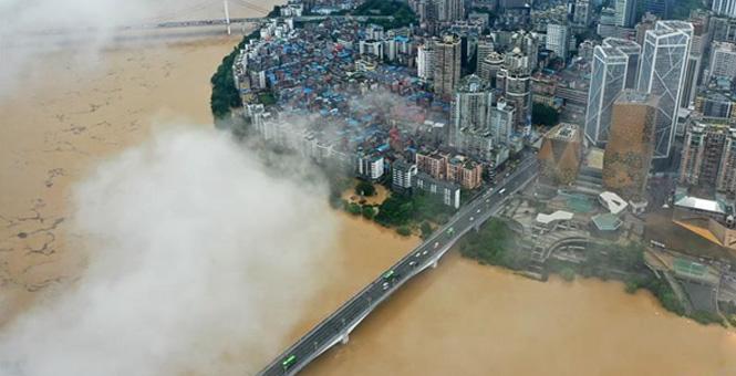 广西柳州:柳江出现超警戒水位